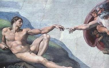 χέρι του Θεού κατά τη δημιουργία του ανθρώπου,God creates man.