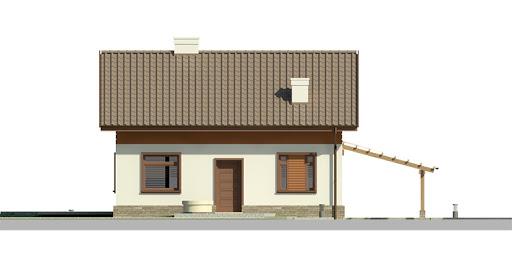 Dom przy Imbirowej 3 - Elewacja przednia