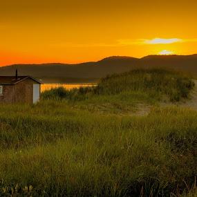 Orange Glow by Randy Burt - Landscapes Sunsets & Sunrises