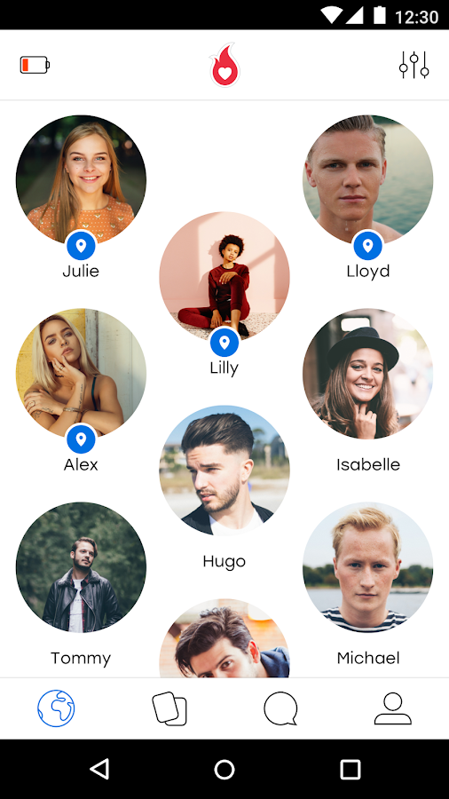 Screenshots of Hot or Not for iPhone