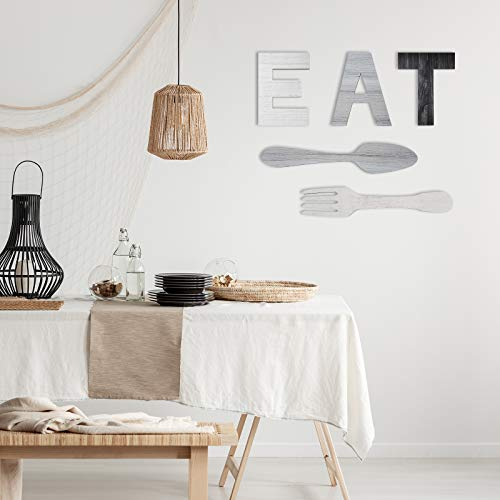 """""""EAT"""" Letter Dining Room Wall Decor Ideas"""
