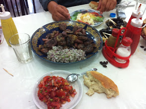 Photo: Repas grillade à Marrakech