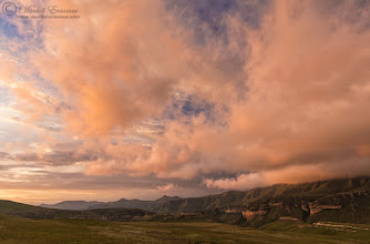 """Photo: """"FireClouds"""" Maluti Mountains Golden Gate Highlands National Park, South Africa  Good morning, friends! I hope you have a splendid week. This is from our Christmas weekend camping trip, shot handheld during a moment of insane light that was over in a couple of seconds.  WEBSITE & PRINTS: www.morkelerasmus.com  #mountains  #MountainMonday  #NatureMonday  #moodymonday  #moodymondayphoto +Mountain Monday #GoldenGate  #SouthAfrica  #landscapephotography  #landscapephoto +Landscape Photography #hqsplandscape"""