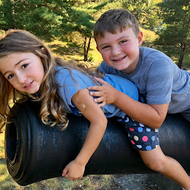 Riding the Cannon  by Ginny Serio - Babies & Children Children Candids