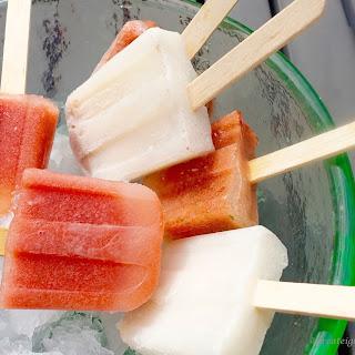 Mini Watermelon Lime Basil Ice Pops