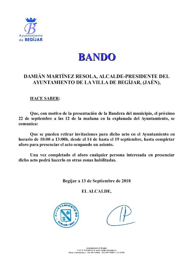 Bando Invitaciones Bandera