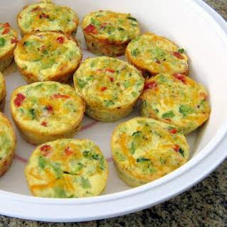 Mini Crustless Broccoli Quiches.