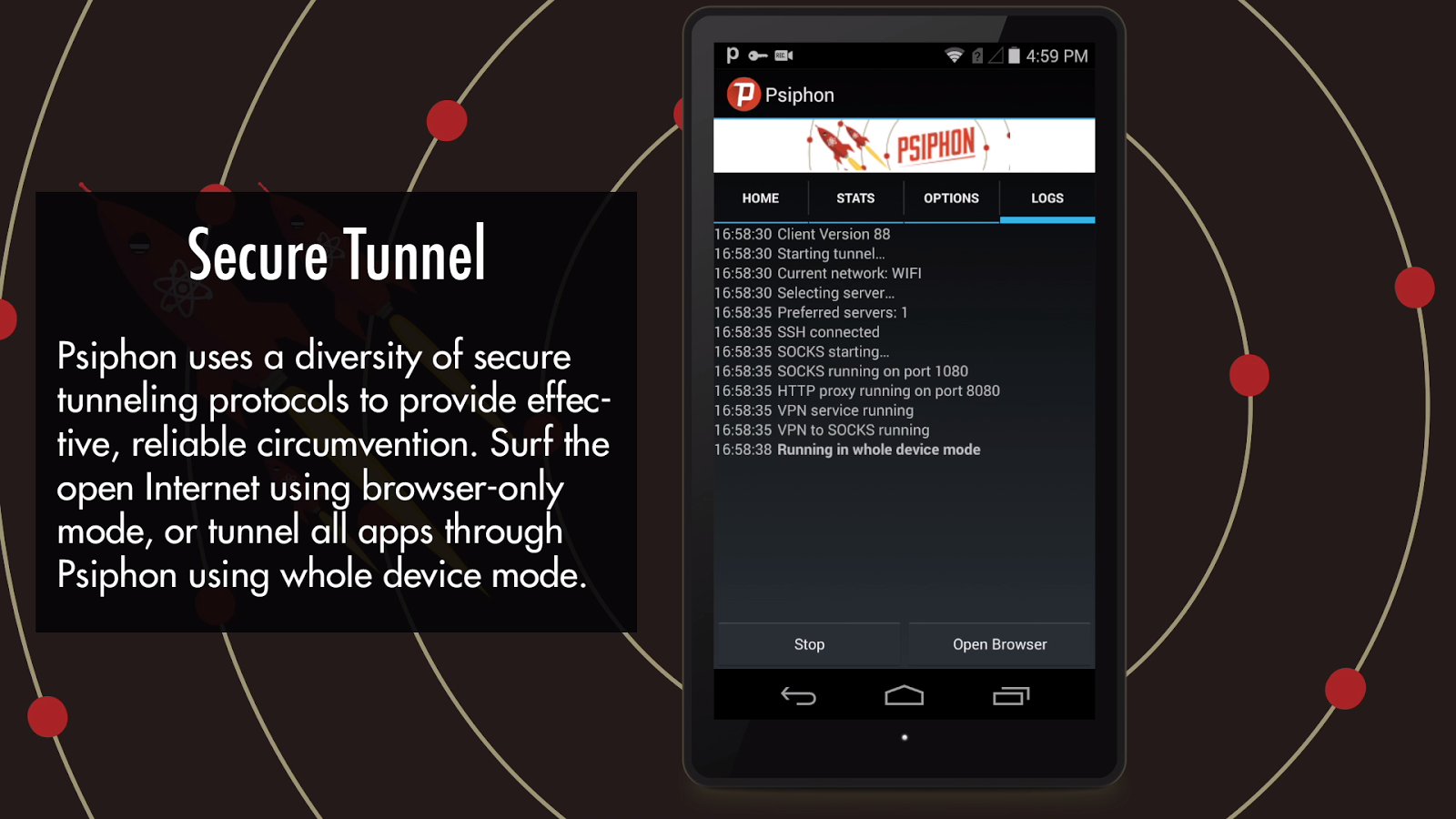 Psiphon- screenshot