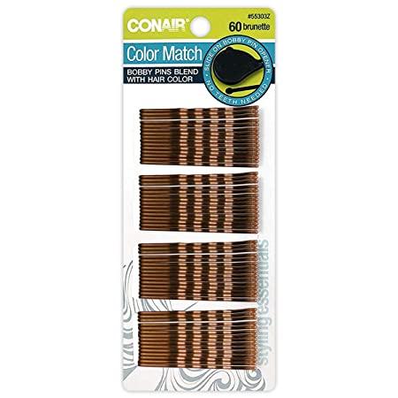 horquillas conair marrón 60und