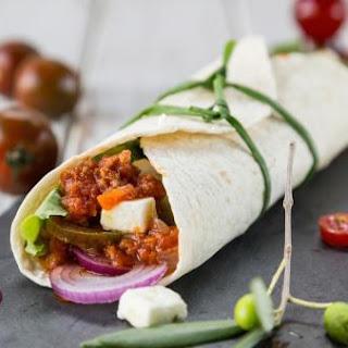 Fajitas With Meat Sauce And Feta