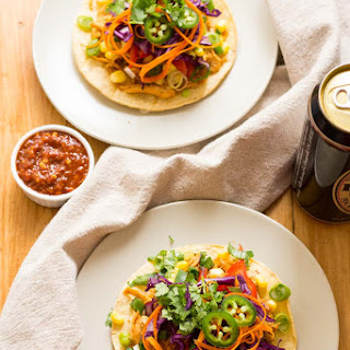 Korean Pulled Chicken Tacos.