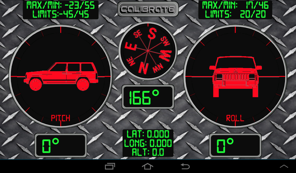 RMO Trial - Inclinometer 4X4- screenshot