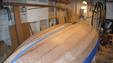 Photo: Final test fit and masking off the keel.