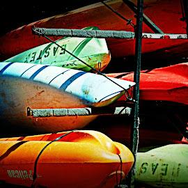 Canoes by Brenda Shoemake - Transportation Boats (  )