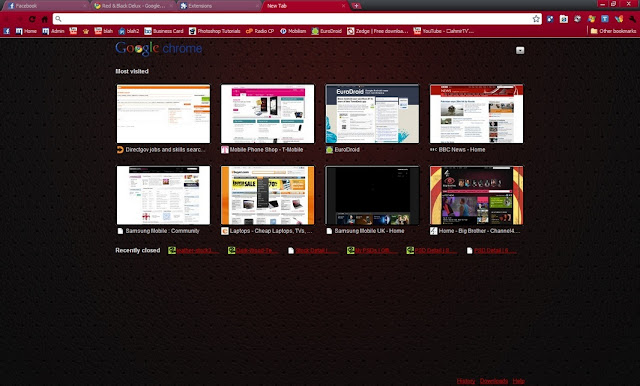 red black delux chrome web store