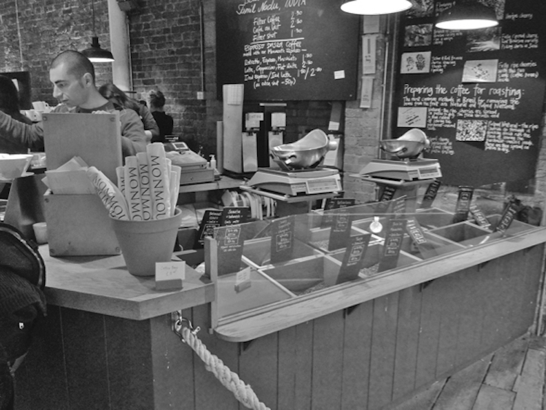 倫敦老牌咖啡館,Monmouth。果力提供