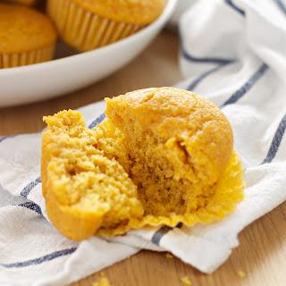 Healthy Pumpkin Cornbread Muffins.