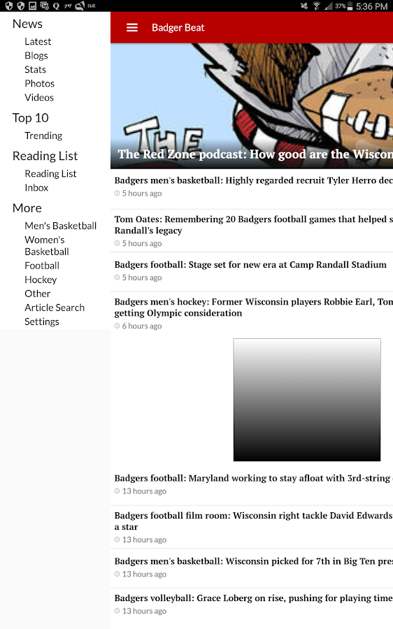 Badger Beat by madison.com- screenshot