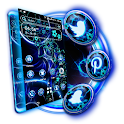 Dark Blue Fractal Theme Launcher icon