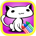 Cute Cats Coloring Book Deluxe icon