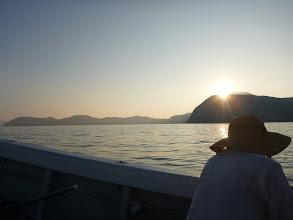 Photo: やっと、日が傾いてきました。