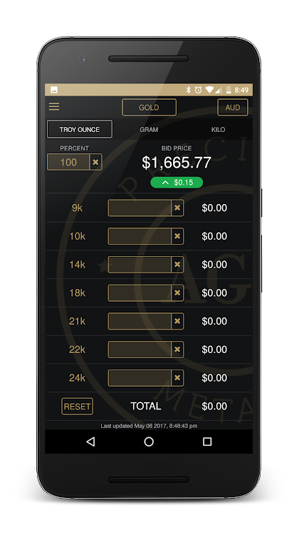 AGD Live Gold Price Calculator – (Android Apps) — AppAgg