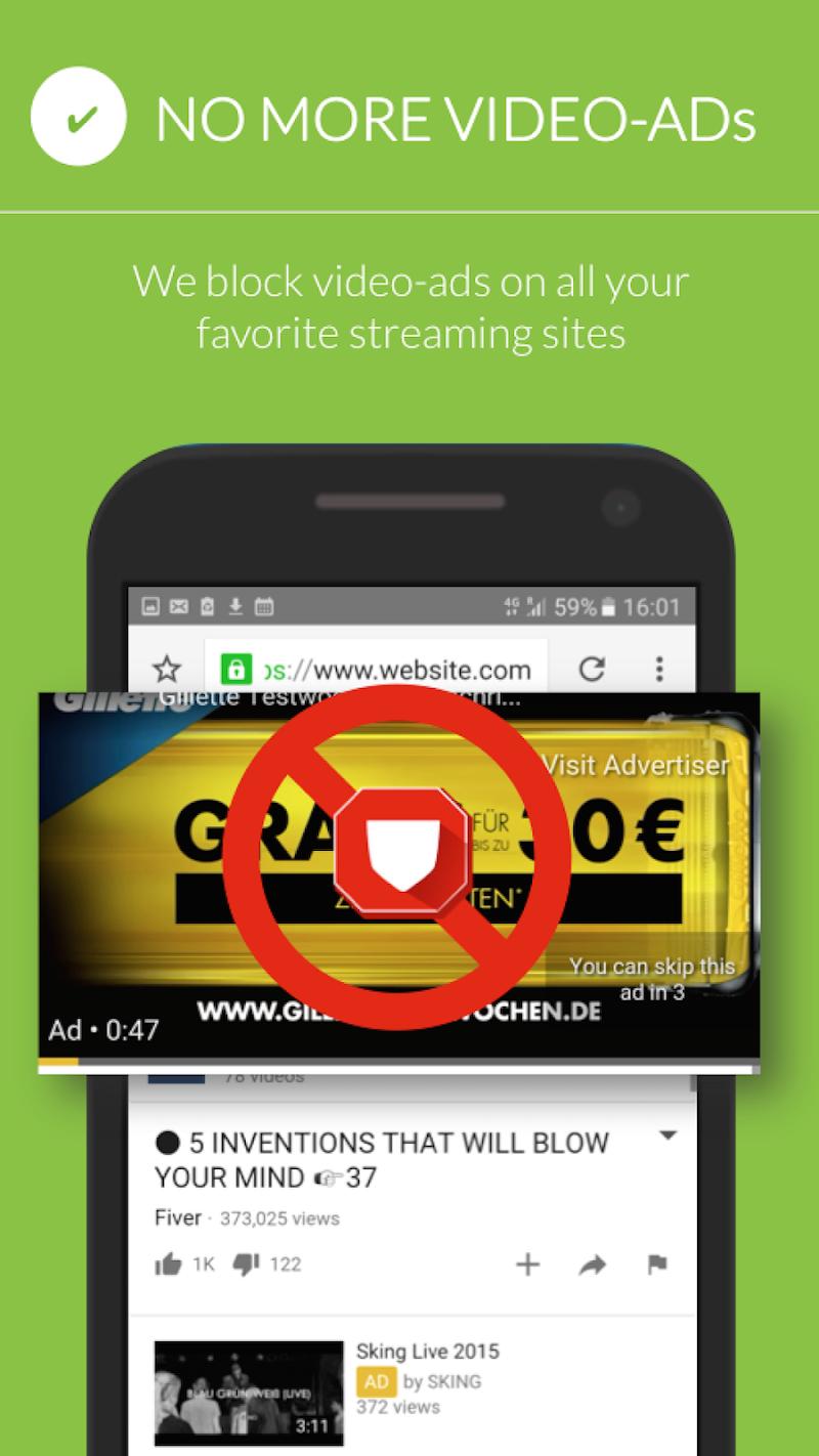 Free Adblocker Browser - Adblock & Popup Blocker Screenshot 2