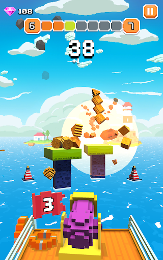Blocky Tower - Knock Box Balls Ultimate Knock Out android2mod screenshots 11