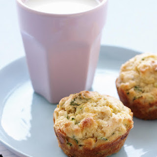 Zucchini, Corn and Cheese Muffins.