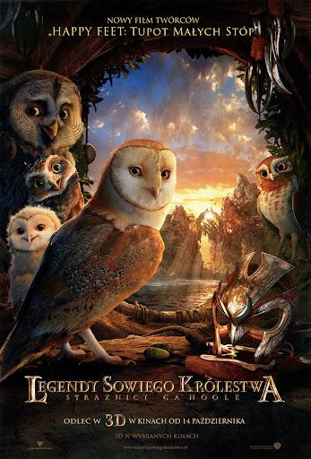 Przód ulotki filmu 'Legendy Sowiego Królestwa: Strażnicy Ga'Hoole'