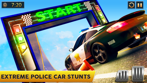 Ramp Police Car Stunts - New Car Racing Games screenshot 1