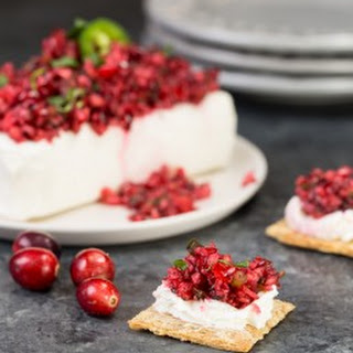 Spicy Cranberry Salsa with Cream Cheese
