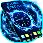 Electric Glow Clock Icon