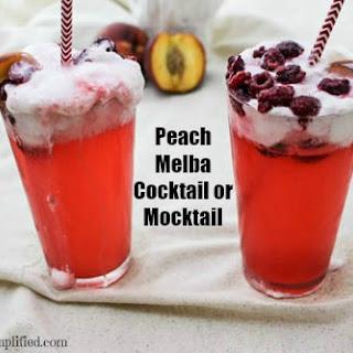 Peach Melba Cocktail or Mocktail.