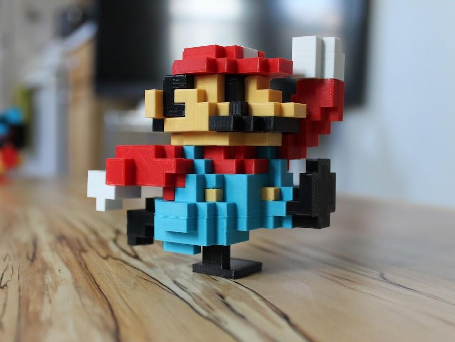 3D Printed Pixelated Mario