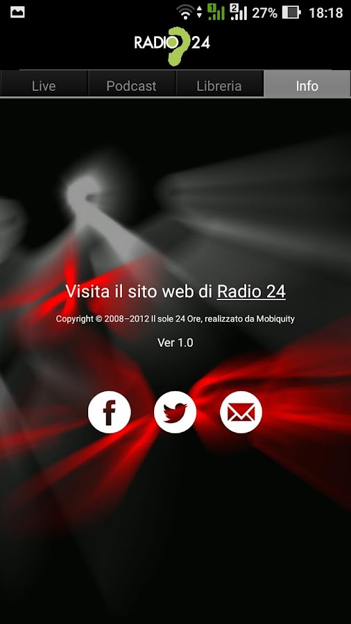 Radio24- screenshot