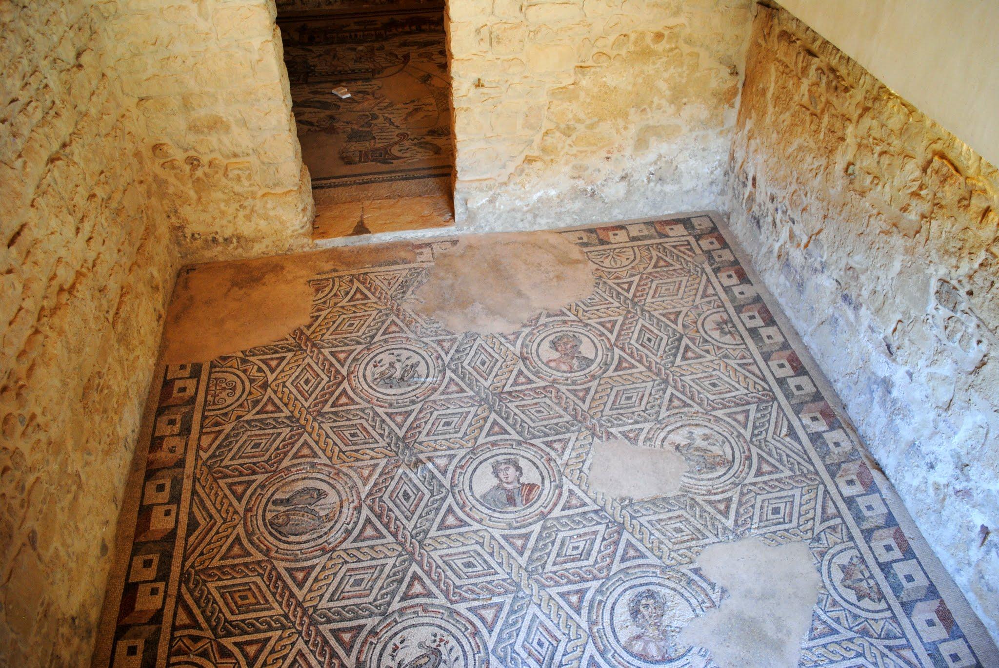My Photos: Italy -- Mosaics -- Sicily -- Piazza Armerina -- The Four Seasons Mosaic