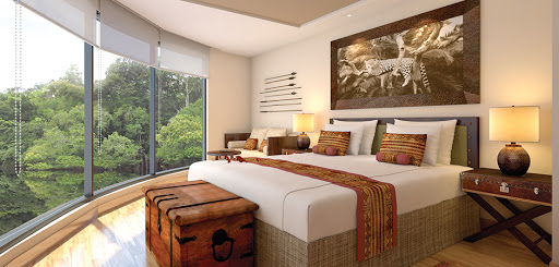 Wake up to a spectacular view of the Amazon gliding by your Estuary Suite on Amazon Discovery.