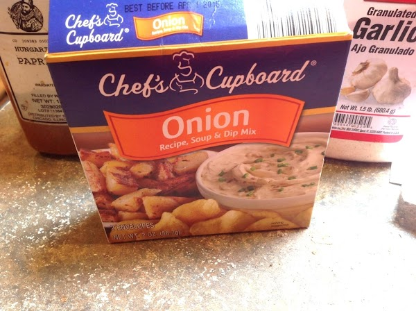 Sprinkle the onion soup mix around the side of the pot and on top...