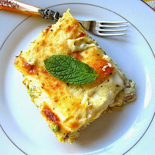 Artichoke & Sweet Pea Lasagne