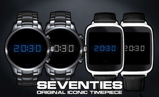Download LED watch face   Vintage   Seventies Sapphire MOD APK 3