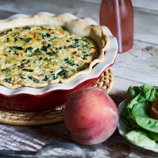 Spinach and Vegetable Quiche.