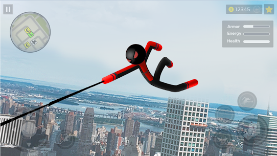 Spider Stickman Rope: Vegas Crime City Hero 2