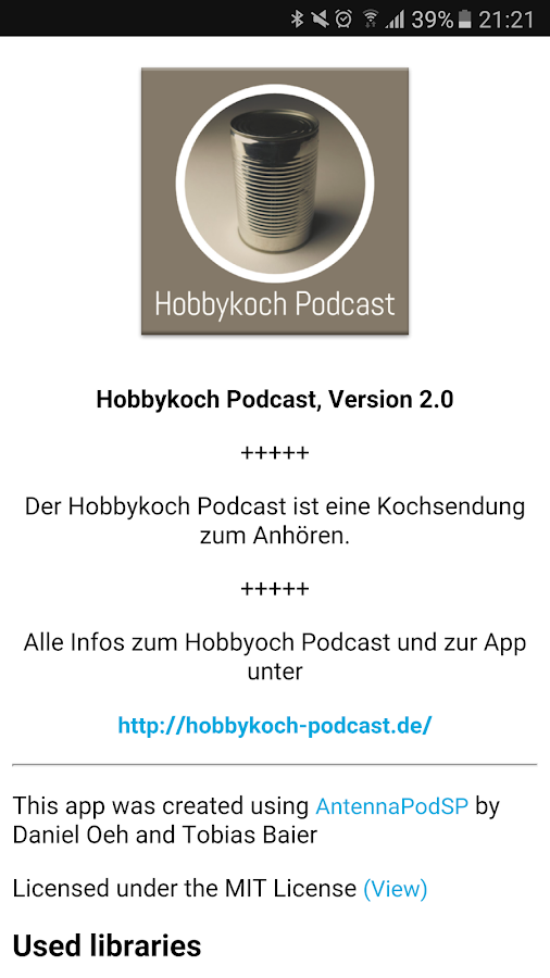 Hobbykoch Podcast- screenshot