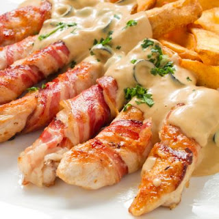 Creamy Bacon-Wrapped Chicken Breasts