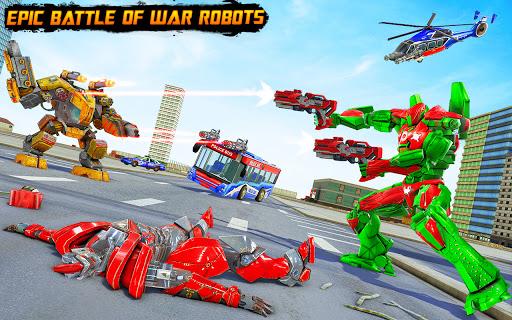 Bus Robot Car Transform War u2013Police Robot games apkdebit screenshots 6
