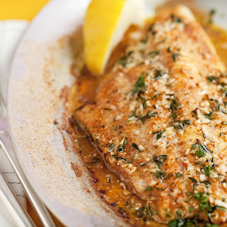 Broiled Catfish With Fresh Thyme, Garlic, And Lemon.
