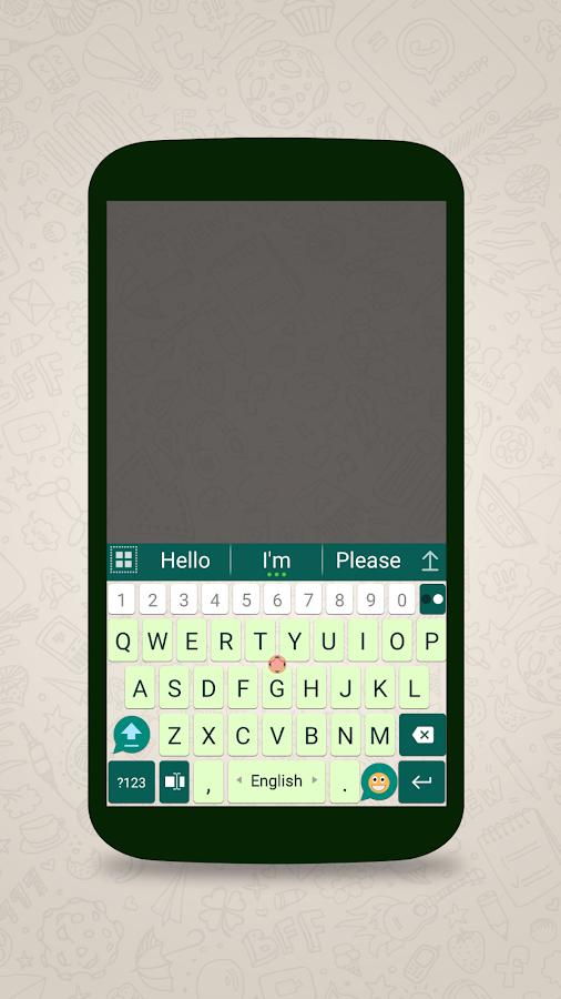 how to add keyboard in whatsapp