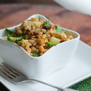 Farro Salad with Sun-Dried Tomatoes and Artichokes.