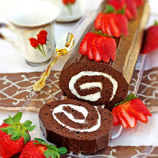Double Chocolate Brownie Roulade
